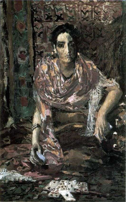 Описание картины Михаила Врубеля «Гадалка»