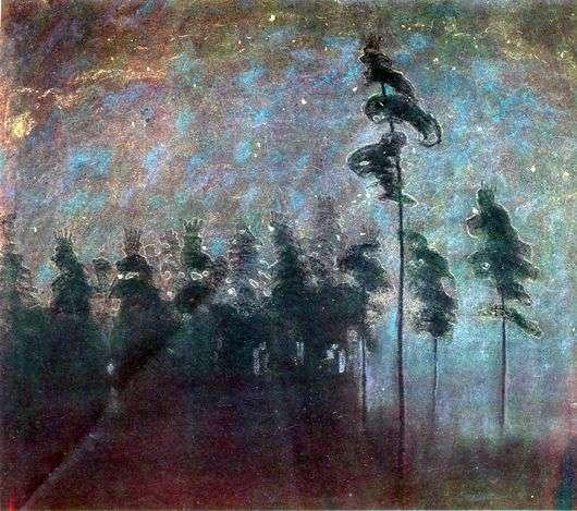 Описание картины Микалоюса Чюрлениса «Лес»