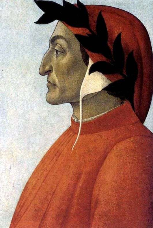 Описание картины Сандро Боттичелли «Портрет Данте»
