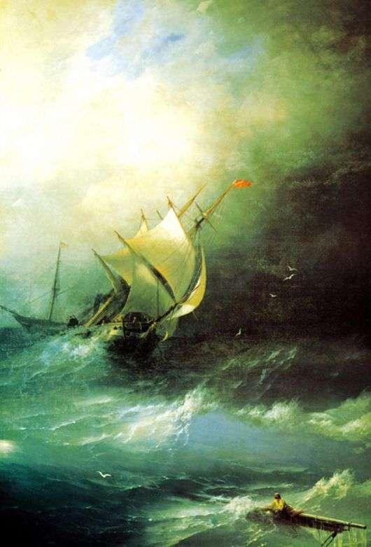 Описание картины Ивана Айвазовского «Буря на Ледовитом океане»