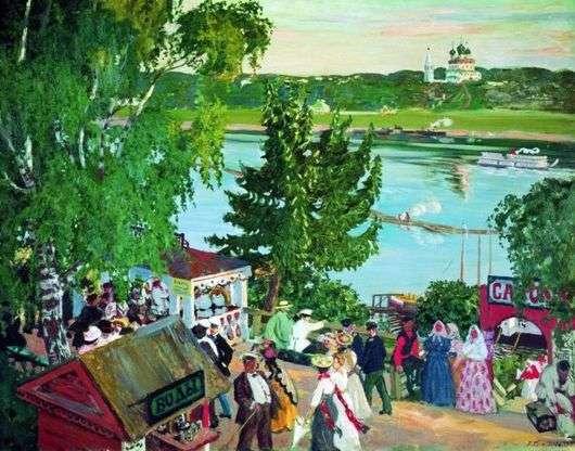 Описание картины Бориса Кустодиева «Гуляние на Волге»