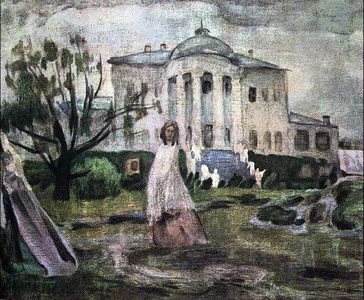 Описание картины Виктора Борисова Мусатова «Призраки»