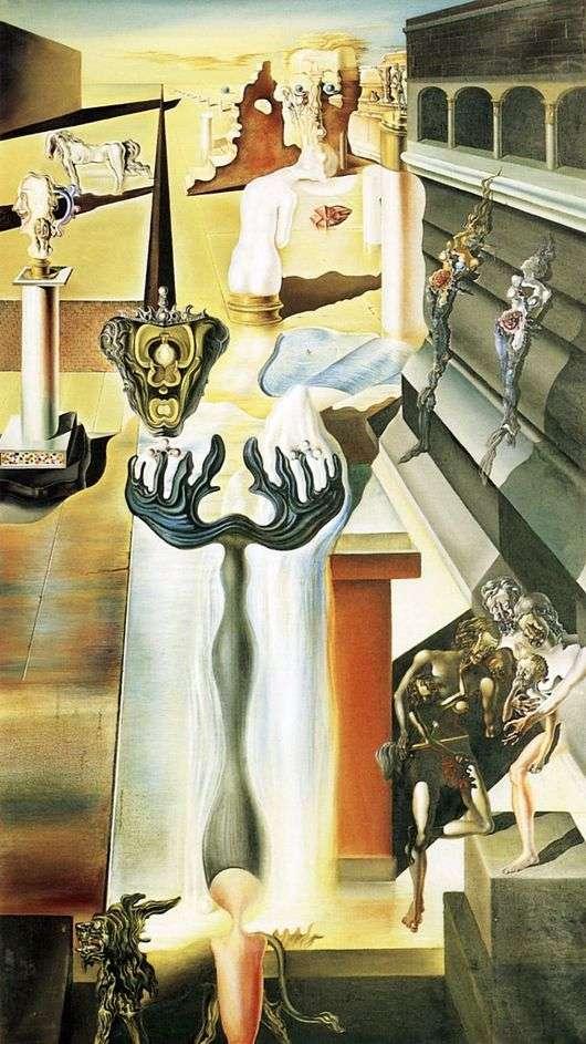 Описание картины Сальвадора Дали «Незримый человек»