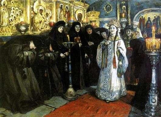 Описание картины Василия Сурикова «Посещение царевной женского монастыря»