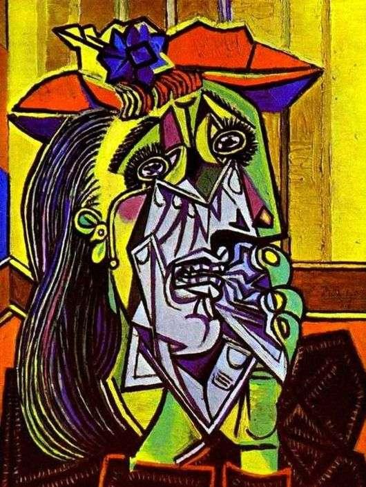 Описание картины Пабло Пикассо «Плачущая женщина»