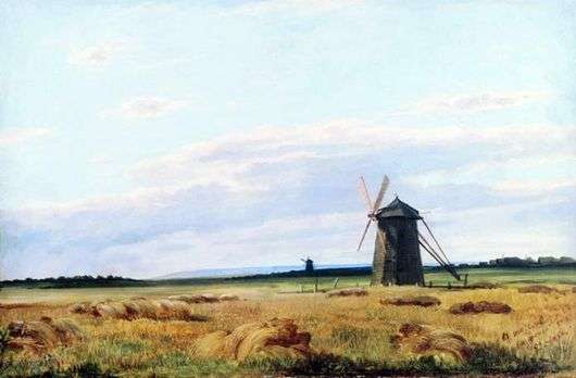 Описание картины Ивана Шишкина «Мельница в поле»