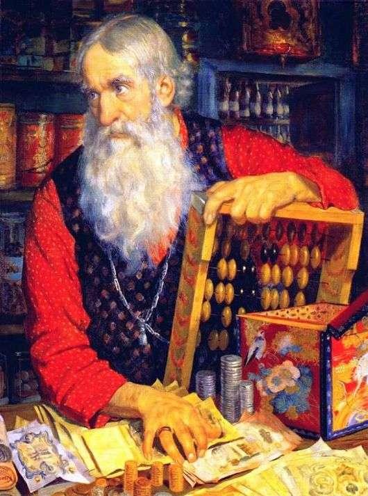 Описание картины Бориса Кустодиева «Купец»