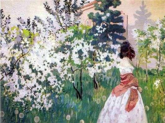 Описание картины Виктора Борисова Мусатова «Весна»