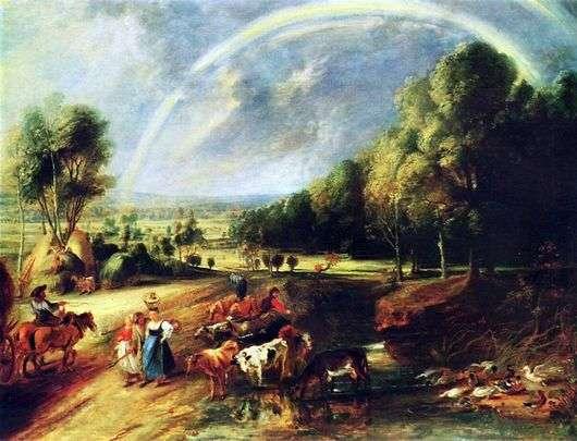Описание картины Питера Пауля Рубенса «Пейзаж с радугой»