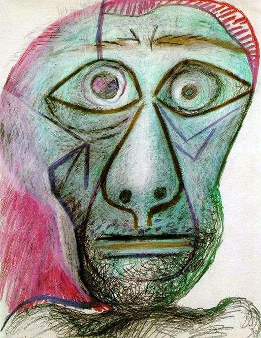 Описание картины Пабло Пикассо «Автопортрет» (30 июня 1972 года)