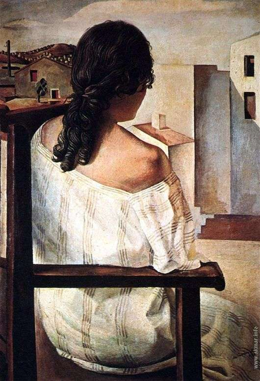Описание картины Сальвадора Дали «Спина девушки»