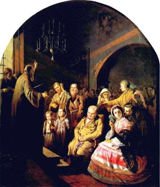 Описание картины Василия Перова «Проповедь в селе»