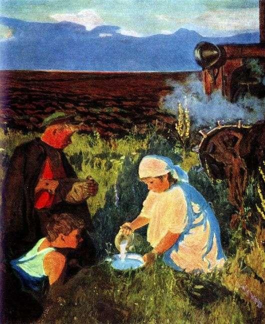 Описание картины Аркадия Пластова «Ужин трактористов»