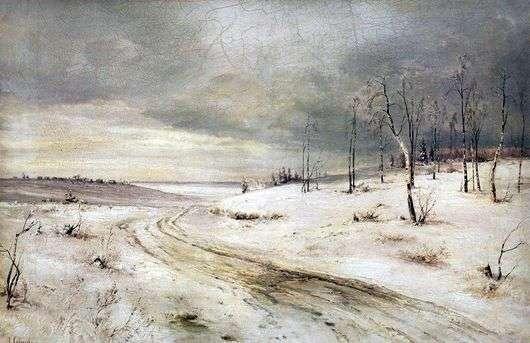 Описание картины Алексея Саврасова «Зимняя дорога»