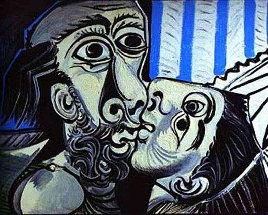 Описание картины Пабло Пикассо «Поцелуй»