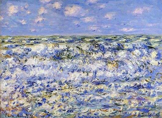 Описание картины Клода Моне «Волны»