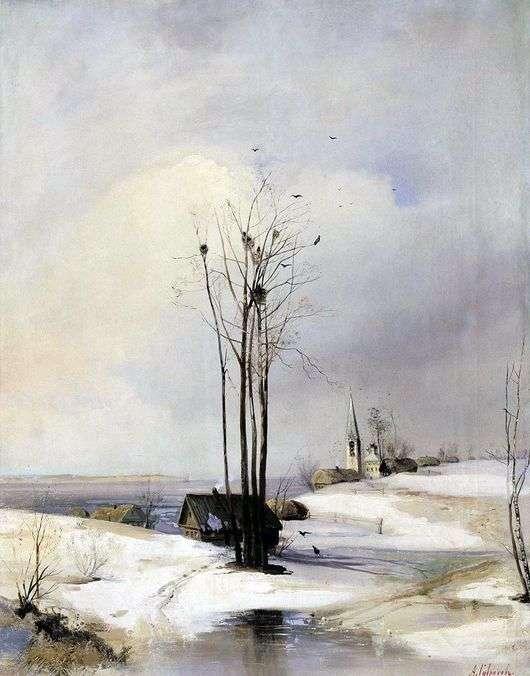 Описание картины Алексея Саврасова «Оттепель» (Ранняя Весна)