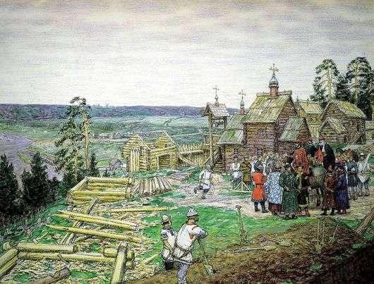 Описание картины Виктора Васнецова «Основание Москвы»