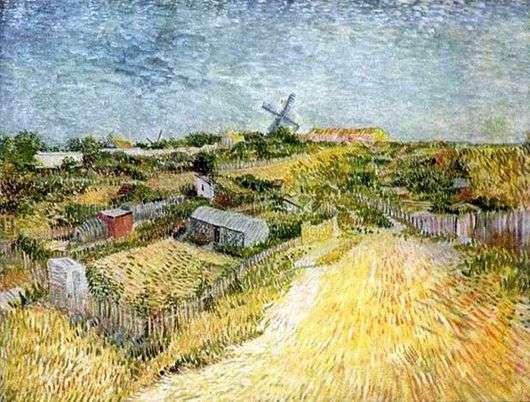 Описание картины Винсента Ван Гога «Вид на Монмартр»