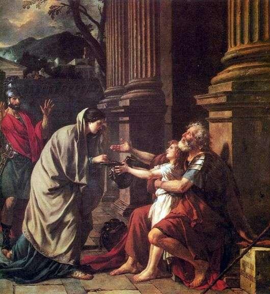 Описание картины Жака Луи Давида «Велизарий»