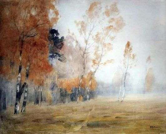 Описание картины Исаака Левитана «Осень. Туман»