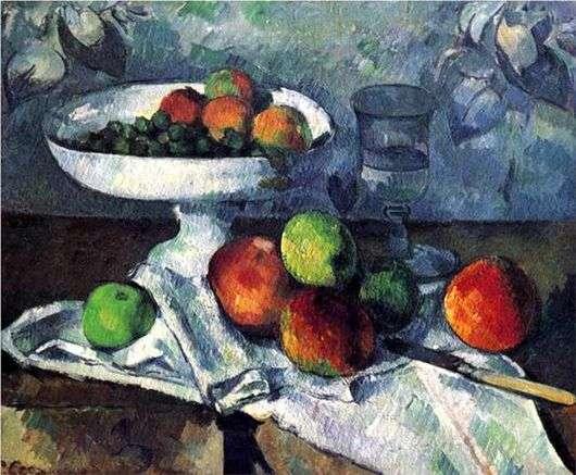 Описание картины Поля Сезанна «Ваза с фруктами»