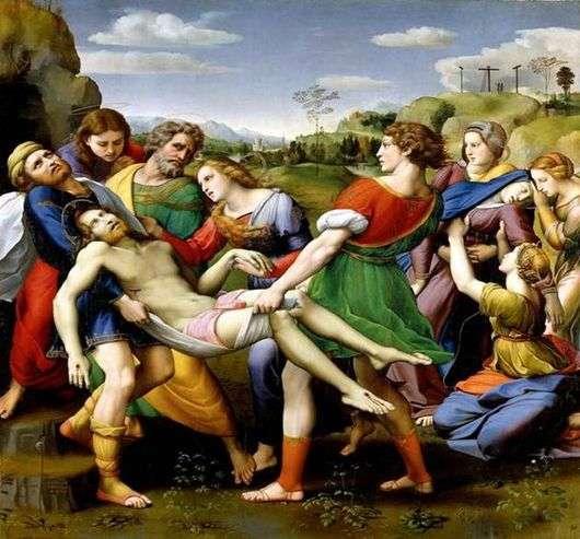Описание картины Рафаэля Санти «Снятие с креста»