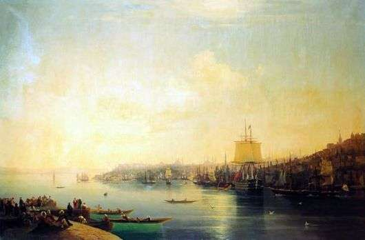 Описание картины Ивана Айвазовского «Вид Константинополя и Босфора»