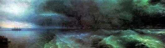 Описание картины Ивана Айвазовского «От штиля к урагану»