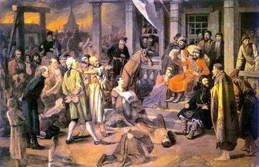 Описание картины Василия Перова «Суд Пугачёва»