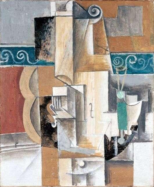 Описание картины Пабло Пикассо «Скрипка и гитара»