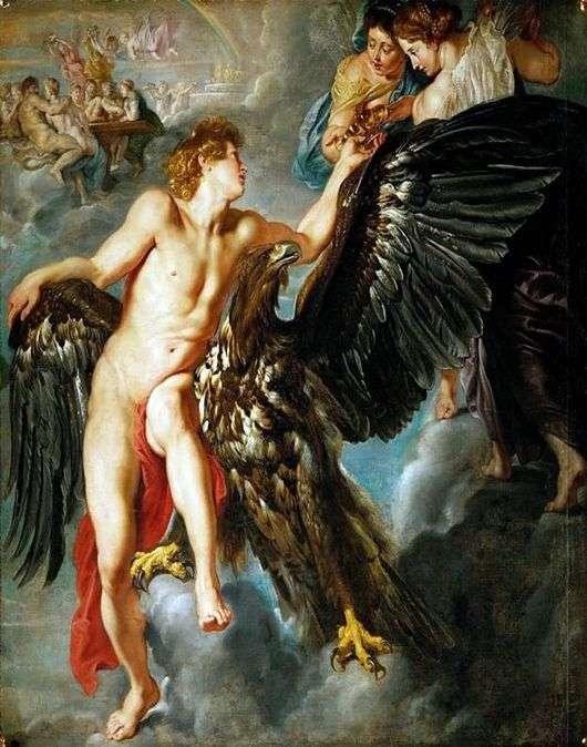 Описание картины Питера Рубенса «Похищение Ганимеда»