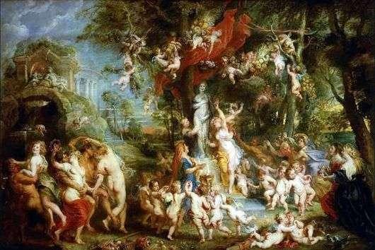 Описание картины Питера Рубенса «Праздник Венеры»