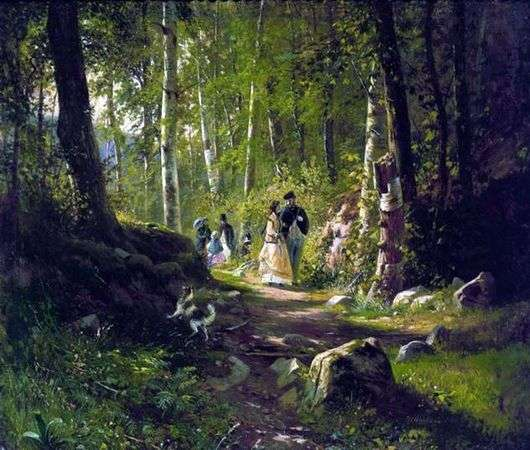 Описание картины Ивана Шишкина «Прогулка по лесу»