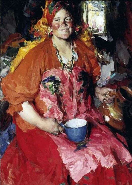Описание картины Абрама Архипова «Девушка с кувшином»