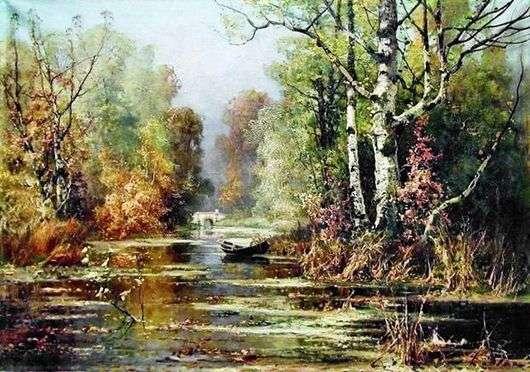 Описание картины Юлия Клевера «Осенний парк»