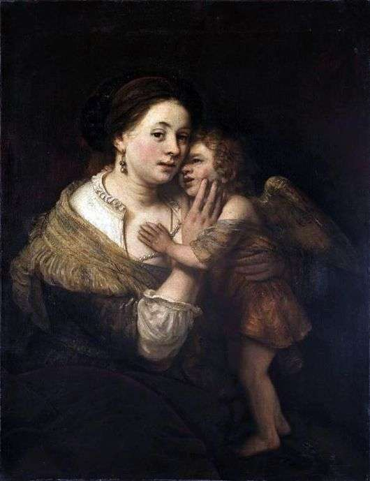 Описание картины Рембрандта «Венера и Амур»