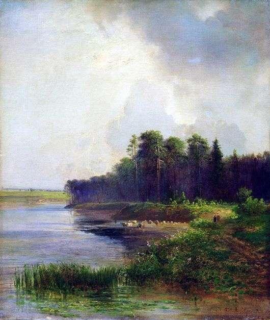 Описание картины Алексея Саврасова «Берег реки»