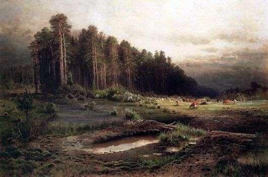 Описание картины Алексея Саврасова «Лосиный остров в Сокольниках»