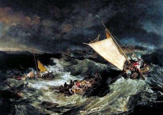 Описание картины Уильяма Тернера «Кораблекрушение»