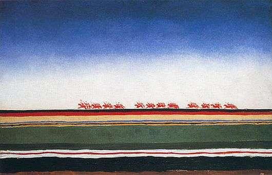 Описание картины Казимира Малевича «Красная конница»
