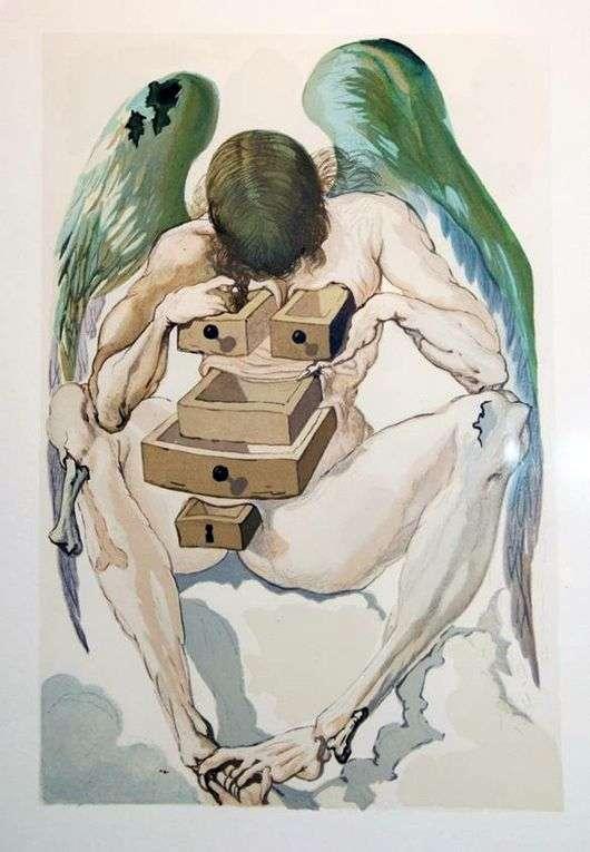 Описание картины Сальвадора Дали «Падший ангел»