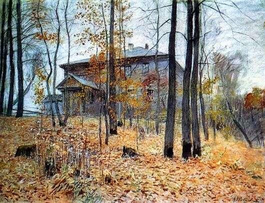 Описание картины Исаака Левитана «Осень. Усадьба»