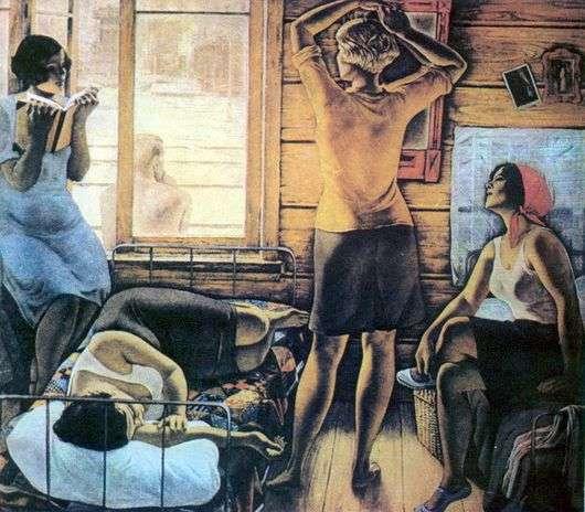 Описание картины Юрия Ракши «Моя мама»