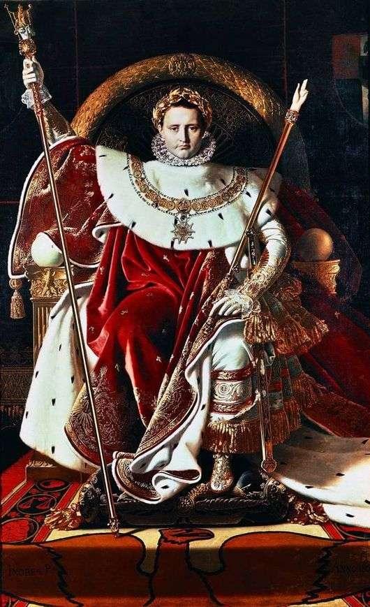 Описание картины Жана Огюста Энгра «Наполеон на императорском троне»