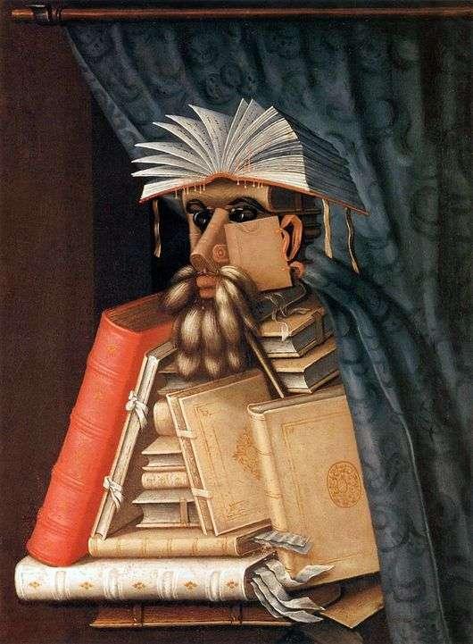 Описание картины Джузеппе Арчимбольдо «Библиотекарь»