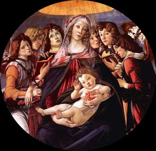 Описание картины Сандро Боттичелли «Мадонна с гранатом»