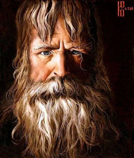 Image result for «Старец» в 1968 году нарисовал художник Константин Алексеевич Васильев,
