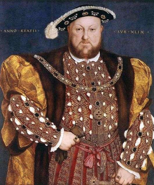 Описание картины Ганса Гольбейна «Генрих 8»