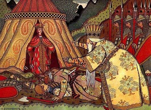 Иллюстрация к «Сказке о Золотом петушке» работы Ивана Билибина
